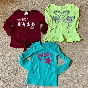 3 Girls Shirts Size 7/8 Medium